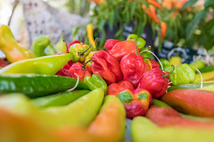 Peppers in french market (Mark Nicholas Heah) Tags: sttropez france french street art vegetable pepper chilli