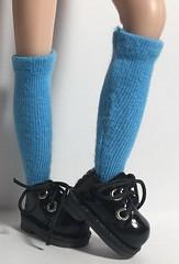 Cerulean Sky Tall Socks...For Blythe...