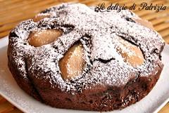Torta cacao e pere (Le delizie di Patrizia) Tags: torta cacao e pere le delizie di patrizia ricette dolci
