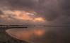 Amanece que no es poco... (Amparo Hervella) Tags: santiagodelaribera españa spain paisaje mar agua nube amanecer color reflejo playa largaexposición d7000 nikon nikond7000 comunidadespañola