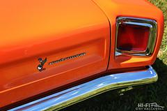 Mopar Creamsicle (Hi-Fi Fotos) Tags: 1969 69 plymouth roadrunner mopar vintage american musclecar classiccar orange tail badge chrome cartoon bird warnerbros detail 60s style nikon d7200 dx hififotos hallewell