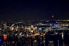 """beg, borrow, or steal"" ―Geoffrey Chaucer / ""The Man of Law's Tale,"" 1387 🌃 🌙 (anokarina) Tags: appleiphonese newyork ny newyorkcity nyc gotham manhattan garmentdistrict empirestatebuilding moon night skyline urban cityscape lights gothamist"