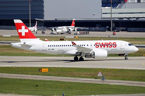 Swiss International Air Lines Bombardier CSeries CS100 (BD-500-1A10) HB-JBD