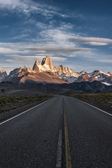 Scenic Road to El Chalten in Patagonia (Foto Fresh) Tags: mtfitzroy cerrotorre roadway road highway sunrise alpenglow polarizer patagonia argentina chile southamerica losglacieresnationalpark nationalpark portrait sonya7r a742 a7rii a9 sonyalpha sony cloudy weather lenticular 35mm emount felens fullframe 70200 gmaster