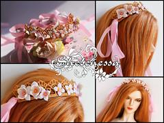 "Кружевной ободок ""Fallada"" (shelenessa) Tags: handmade flowers wreath bjdjewelry foam jewelry"
