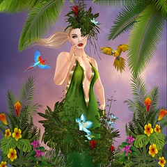 A Walk in the Forest (JewelOfDeNiel MV♛USA 2015) Tags: irrisistible shop swank event tropical goddess summer jewelofdeniel isis secretspy gown