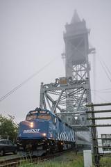 Buzzards Bay Bridge (Nick Gagliardi) Tags: train trains railroad cape cod buzzards bay lift bridge capeflyer emd diesel f40ph3c massdot mbta massachusetts transit authority
