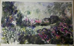 my garden (koabrahamse) Tags: aquarell aquarel watercolour wasserfarben