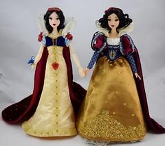 Original Limited Edition Snow White Doll Welcomes D23 Snow White Doll - Full Front View (drj1828) Tags: d23 2017 expo purchases merchandise limitededition artofsnowwhite snowwhiteandthesevendwarfs snowwhite princess deboxed le1023 2009 17inch sidebyside standing comparison