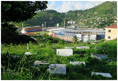 """Tombstones and Stadia"" - Grenada"