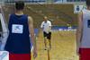 Entrenamiento de la seleccion española de baloncesto en Benahavis