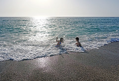 Fun at sunset (Dumby) Tags: children italia calabria italy sea mediteranean sunset travel holyday