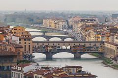 Florence (FCurti) Tags: city water river travel church house old tourism urban architecture roof cityscape bridge building sight town panorama skyline panoramic horizontal italy florence