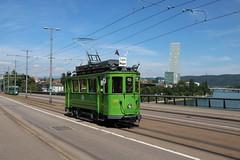 126 (200er Serie) Tags: tram drämmli schienenfahrzeug bvb basler verkehrsbetriebe grün oldtimer 126