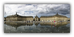 Place de la Bourse (jldum) Tags: bordeaux panoramique reflets reflections batiment architecture