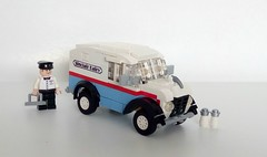 1950 Divco milk van (LegoEng) Tags: 1950 1950s divco milk van suburbia suburban legoeng lego american america car truck