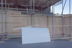 Rectangle (Richard:Fraser) Tags: urban white rectangle scaffolding board chipboard city topography