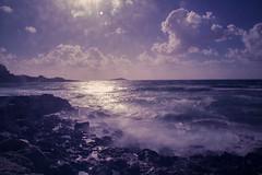 Barcarello (ilsiciliano_) Tags: sunset barcarello sunsets palermo italia sicilia onde mare filter nd canon 600d cloudy nuvoloso vento rocce photo photography landscape landscapes paesaggio panorama