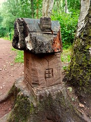 Little house in the woods. (adeleshaw) Tags: wood forest carving