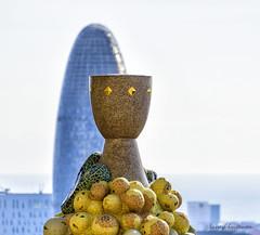 Sagrada Familia - Torre Agbar in the background (lasse christensen) Tags: dsc9951 spainspania barcelona sagradafamilia torreagbar