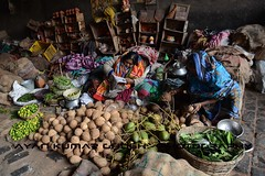 """ N E W S - T I M E "" (Ayan Kumar Ghosh Photography) Tags: bengal bazar market morning mother people nikon northcalcutta north newspaper news street shop smallshop westbengal woman women"