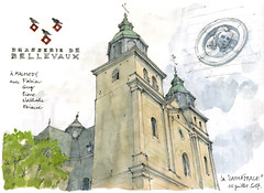 Malmedy, cathédrale (gerard michel) Tags: belgium liège malmedy cathédrale sketch croquis aquarelle watercolour