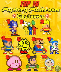 Top 10 Mystery Mushroom Costumes (Luigi Fan) Tags: top 10 nintendo super mario maker costume mystery mushroom