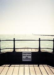 Caution (Antony J  Shepherd) Tags: littlehampton olympuspenee2 penee2 ee2 halfframe