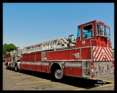 Even Firemen Have To Eat (Carolyn Arzac) Tags: firetruck unifiedfiredepartment sandy utah market red nikon coolpix photos flickr