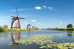 4 Windmills (Guy Goetzinger) Tags: architektur windmühle kinderdijk zuidholland niederlande nl goetzinger wind windmill nikon d800 tourism historic canal old alt historisch vieux ancien