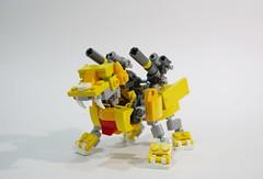 yellowliger (chubbybots) Tags: lego mech liger
