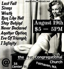 LastFALL, Sirens, Wrath, Run Like Hell, Stay Behind, Never Declared, Another Option, Eve Of Triumph, I Infinity @ 1st Congregational Church (nbrock.net) Tags: lastfall sirens wrath runlikehell staybehind neverdeclared anotheroption eveoftriumph iinfinity 1stcongregationalchurch fairhaven fairhavenma