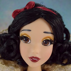 2017 D23 Snow White Limited Edition 17 Inch Doll - Disney Store Purchase - Deboxing - On Backing - Tight Closeup Left Front View #2 (drj1828) Tags: d23 2017 expo purchases merchandise limitededition artofsnowwhite snowwhiteandthesevendwarfs snowwhite princess deboxing certificateofauthenticity le1023