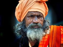 Kolkata - Sadhu (sharko333) Tags: travel voyage reise street india indien westbengalen kalkutta kolkata কলকাতা asia asie asien people portrait man sadhu beard olympus em1