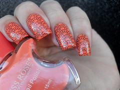 Miss Rôse - 07 + BC-04 (Barbara Nichols (Babi)) Tags: missrôse laranja orange orangenailpolish orangenails carimbo carimbada bc04