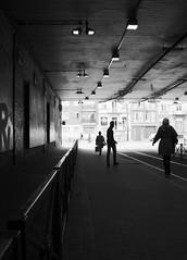 Wait For Me ! (Ren-s) Tags: people personne man woman homme femme silhouette backlight shadow ombre contrejour bruxelles brussels belgique belgium europe bridge tunnel railway rail tram trottoire outline vanishingpoint pointdefuite pointdevue pointofview black blackwhite blackandwhite bnw bw noir noiretblanc noirblanc nb street rue photographiederue streetphotography graffiti graff rambardeguardrail barrier rambarde guardrail contract dark contraste olympus em10 lumix g 20f17 ligne lines piétons pedestrian city town ville downtown capitale capital centreville urbain urban