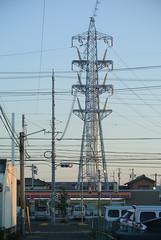 yokkaichi5185 (tanayan) Tags: mie japan yokkaichi nikon j1 三重 四日市 日本 steel tower town evening