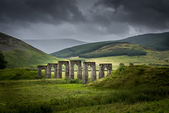 A disused structure to allow cattle pass over a rail line in the Scottish borders. (ola_er) Tags: scotlandcoastwalkcountrysidelandscape nikonflickraward nikonphotography