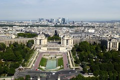view from the Eiffel Tower (Muddy LaBoue) Tags: iledefrance monuments towers iconicarchitecture 1889 2017 july worldexposition eiffeltower paris france attractions tourism panasoniclumixdmctz60 summer tower city architecture building