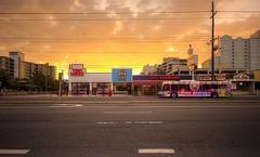 Coastal Highway (Jon Scherff) Tags: street storefronts sunrise sky nikond810 wideangle nikon1424mmf28afs color
