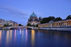 Berliner Dom Blue Hour (jerryjcwu) Tags: d600 nikkor afsnikkor28mmf18g berlin germany europe cityscape summer reflection water