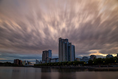 Moody skies over Salford Quays (G-WWBB) Tags: moodysky clouds dark sky skyline reflections reflecting reflect waterfront sunset skies salfordquays salford salfordquaysliftbridge vue lowrysalfordquays lowry lowrybridge lowryoutletmall