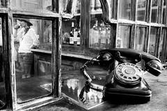 antigua bodega Malaga (antonio f. martinez) Tags: blancoynegro blackandwhite malaga españa espain costadelsol andalucia bar bodega telefono phone antiguo old