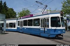 2114 (northwest85) Tags: verkehrsbetriebe zürich vbz 2110 tram 2000 be 48 6 bahnhof enge zürichbergstrasse switzerland