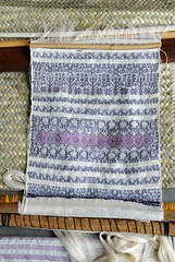 Loom with Weaving Oaxaca Mexico (Teyacapan) Tags: textiles weavings zapotec telar loom sanbartoloyautepec oaxaca tejidos nicolasapascual