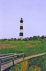Cape Hatteras National Seashore - Bodie Lighthouse - North Carolina 1995 (bigjohn1941) Tags: bodie lighthouse cape hatteras national seashore
