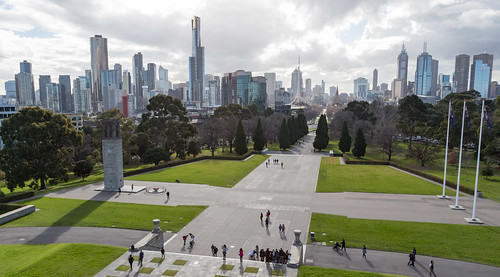 City view from the Shrine of Remembrance