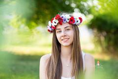 IMG_6956 (Galika_) Tags: teen girl long hair smile sunset sundown summer wreath flower portret memory natural naturallight white green canon 6d 85mm 8518 bulgaria