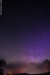 Aurora at Baker (Beth Madigan) Tags: aurora northernlights auroraborealis borealis nighttime astrophotography mountbaker mtbaker artistpoint pnw washington bigdipper stars purple fog
