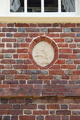 1726 Datestone above the side door at Berkeley Plantation with the initials of Benjamin Harrison IV and his wife, Anne (Beltway Photos) Tags: charlescitycounty berkeleyplantation berkeleyhundred charlescity 1700s virginia 1600s unitedstates plantation antebellum benjaminharrison presidentwilliamhenryharrison benjaminharrisoniv presidentbenjaminharrison